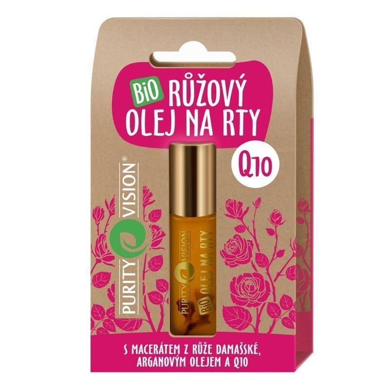 Purity Vision Bio Růžový olej na rty s Q10 10 ml