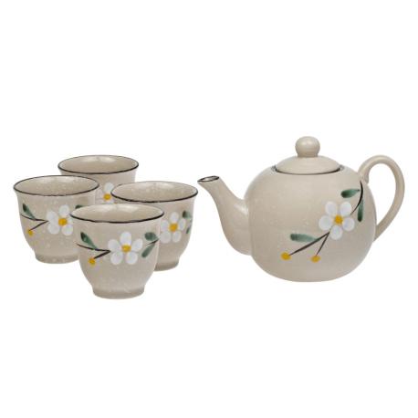Oxalis Gobi - porcelánová čajová souprava