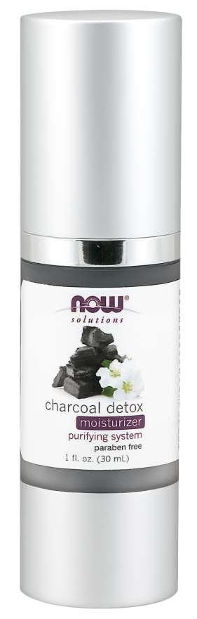 NOW® Foods NOW Charcoal Detox Moisturizer (hydratační krém s aktivním uhlím), 30 ml Expirace 5/2021