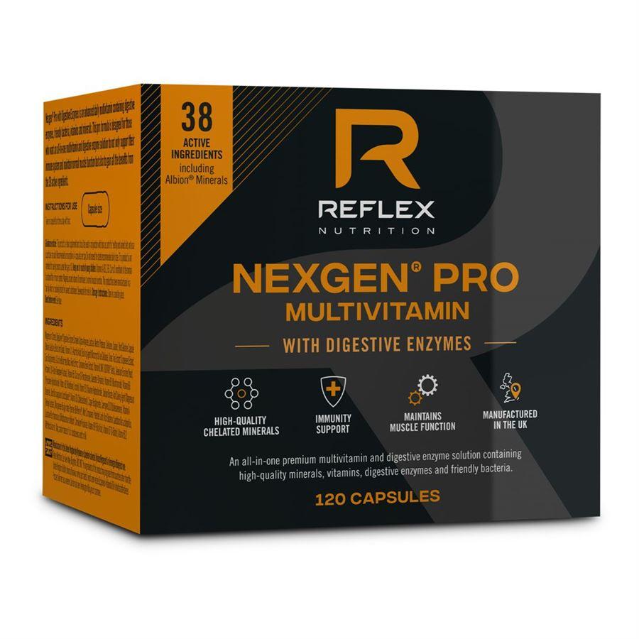 Reflex Nexgen® PRO Multivitamín + Digestive Enzymes, 120 kapslí