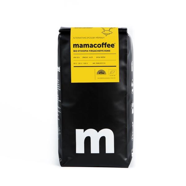 Mamacoffee - BIO Ethiopia Yirgacheffe Koke, 1000g Druh mletie: Mletá