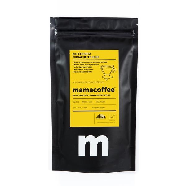 Mamacoffee - BIO Ethiopia Yirgacheffe Koke, 250g Druh mletie: Mletá