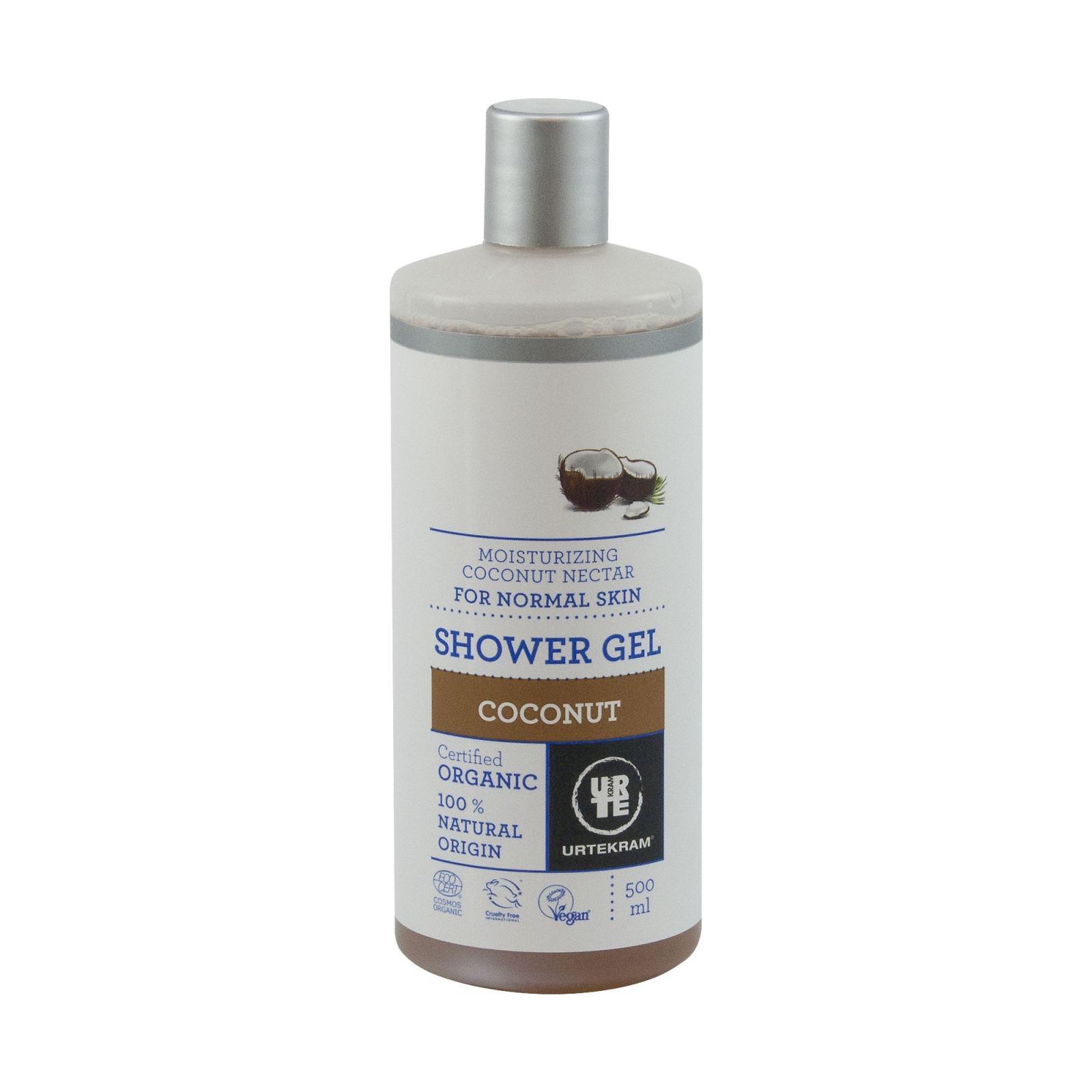 URTEKRAM, Hydratační sprchový gel s kokosovým nektarem 500 ml BIO, VEG