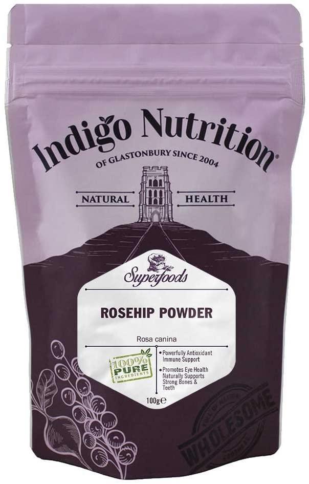 Indigo Herbs Roseship Powder, šípky v prášku, 100 g