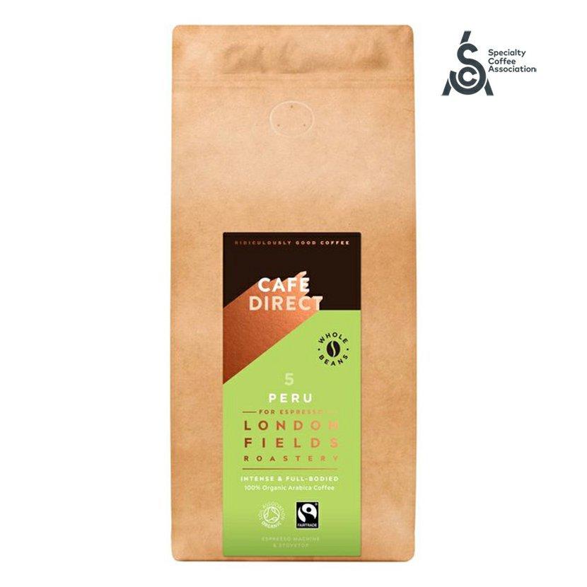 Cafédirect - BIO Peru Reserve SCA 82 zrnková káva s tóny oříšků a kakaa, 1000g