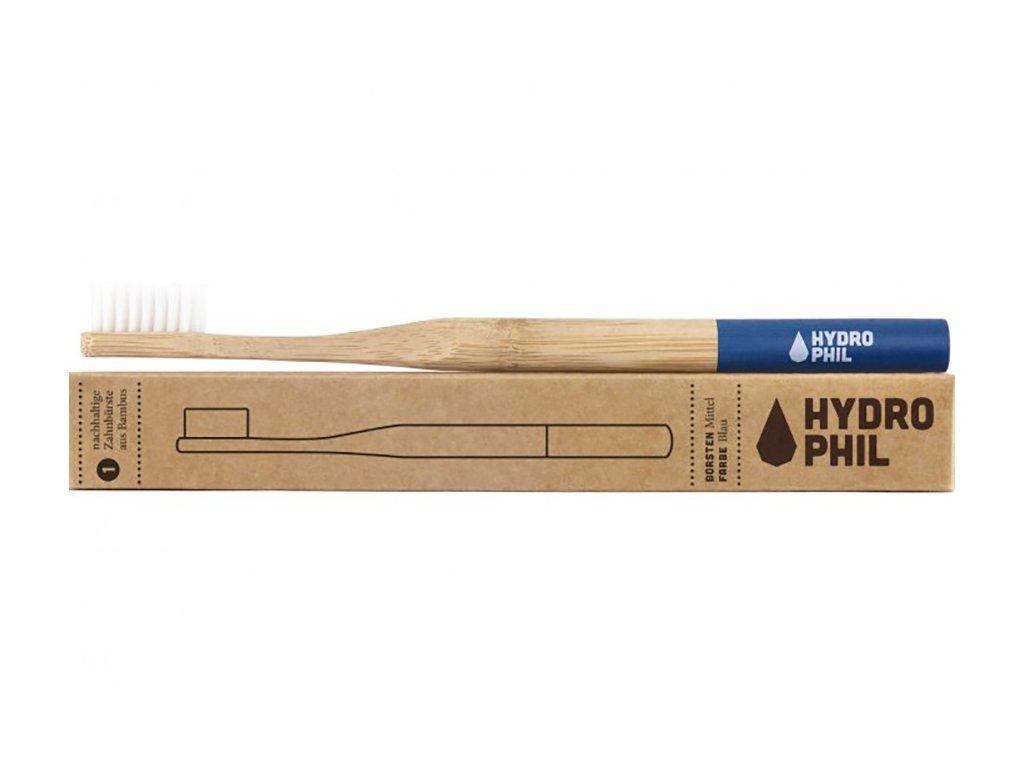 Hydrophil bambusová kefka (medium) - modrá