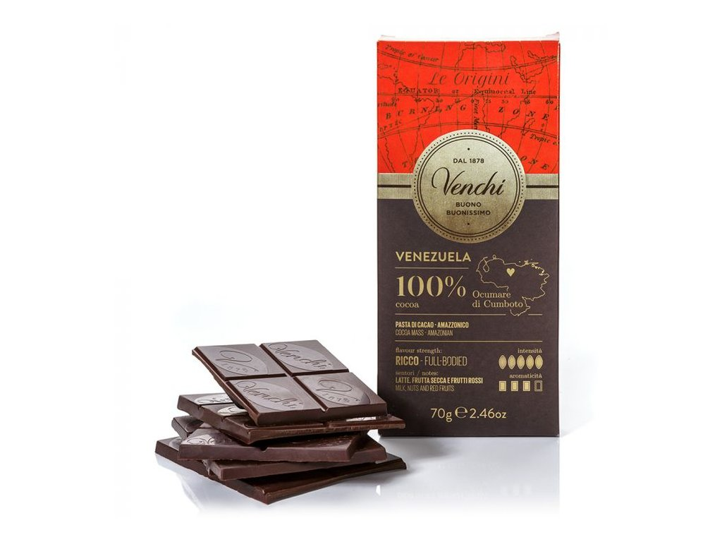 Venchi - Čokoláda 100% BIO Venezuela 70g