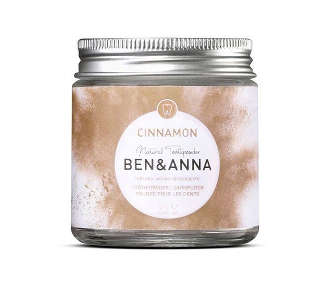 Ben & Anna - Bělicí zubní prášek se skořicí (45 g)