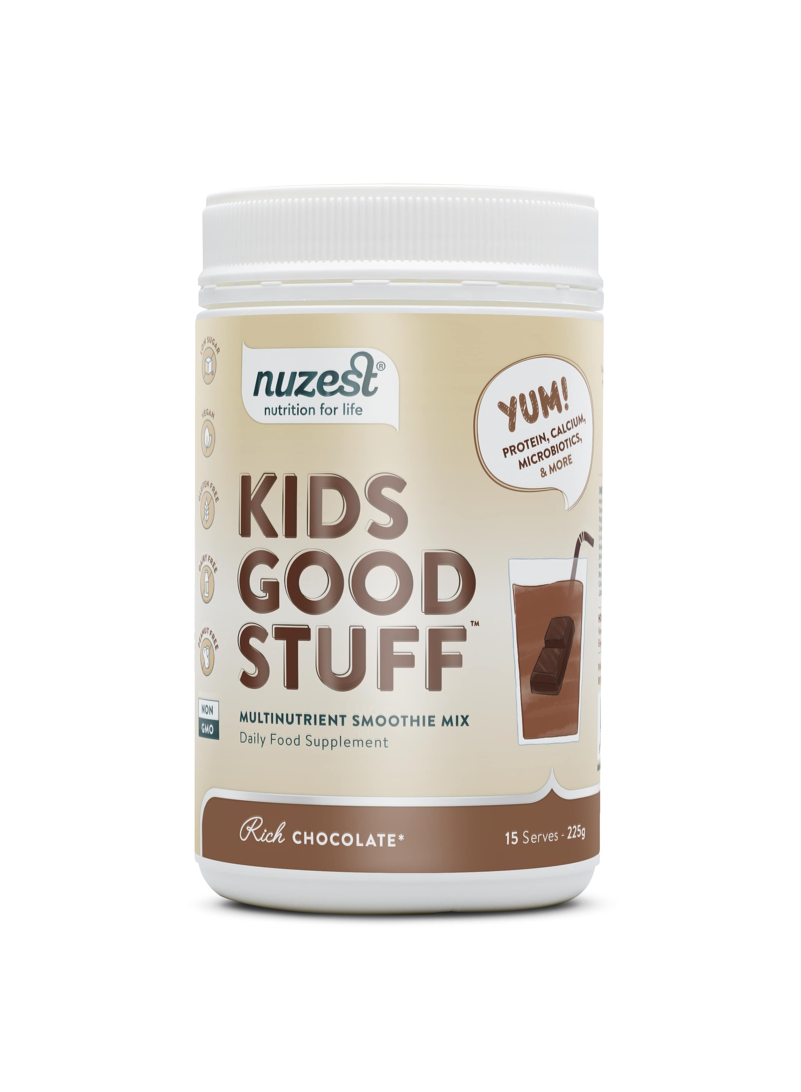 Nuzest - Kids Good Stuff, Rich Chocolate Balenie: 225g