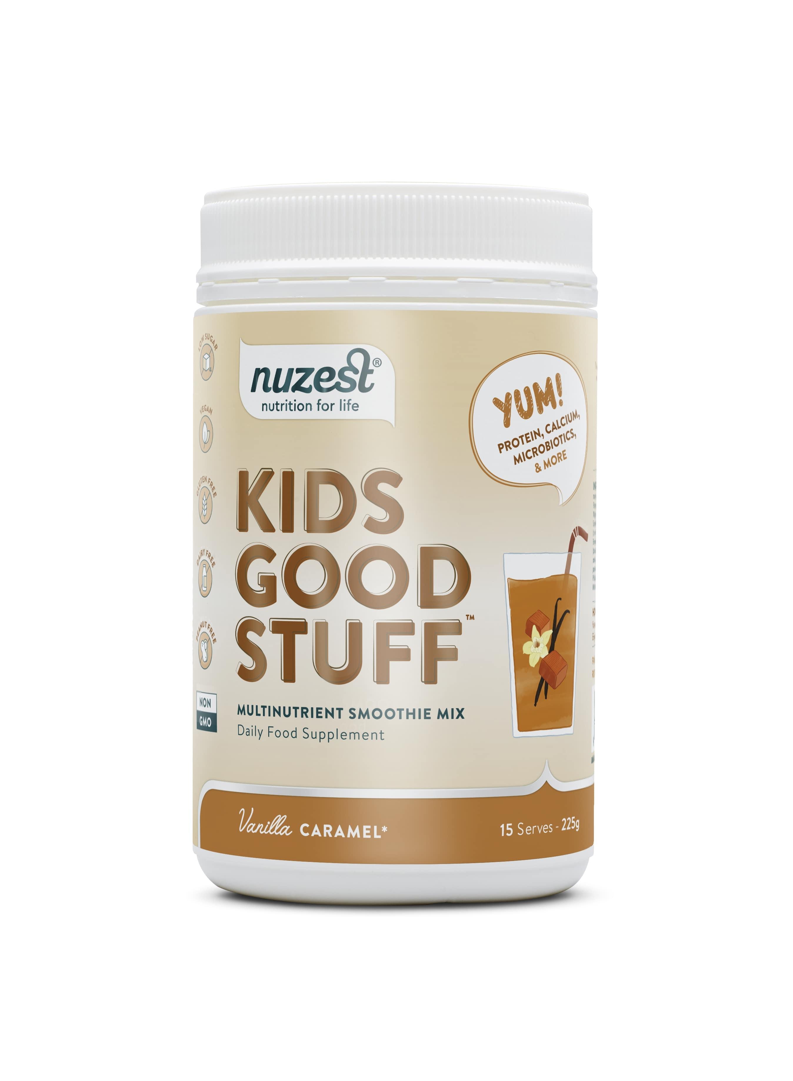Nuzest - Kids Good Stuff, Vanilla Caramel Balenie: 225g