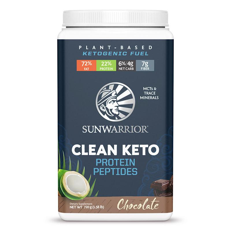 Sunwarrior CLEAN KETO, 720g - Čokoláda