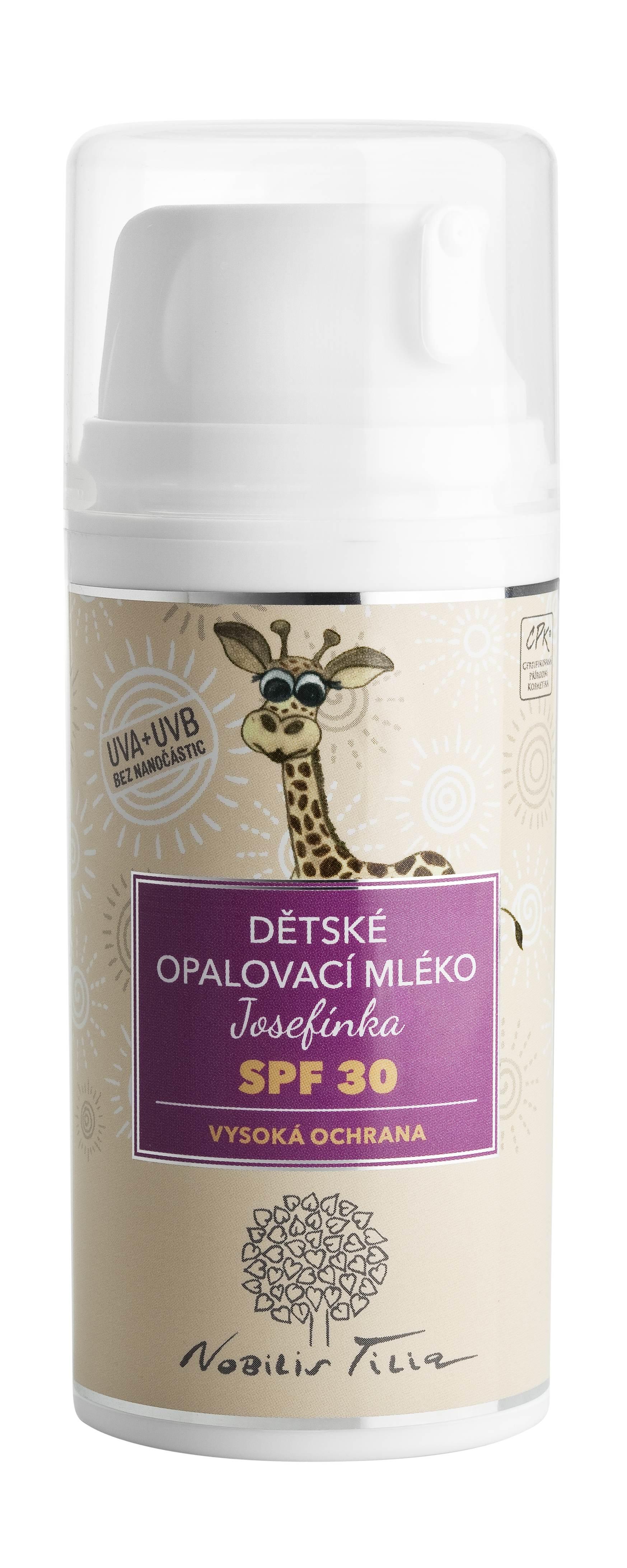Nobilis Tilia - Dětské opalovací mléko Josefínka SPF 30, 100 ml