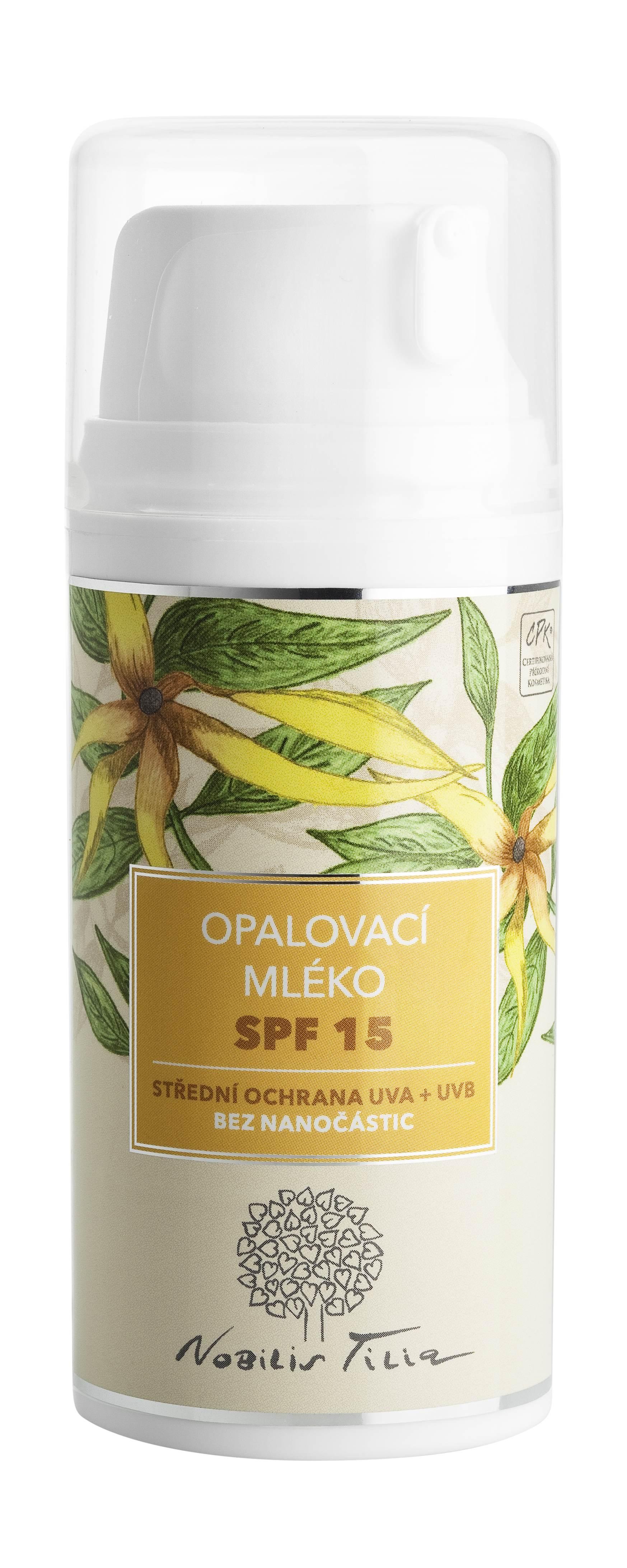 Nobilis Tilia - Opalovací mléko SPF 15, 100 ml