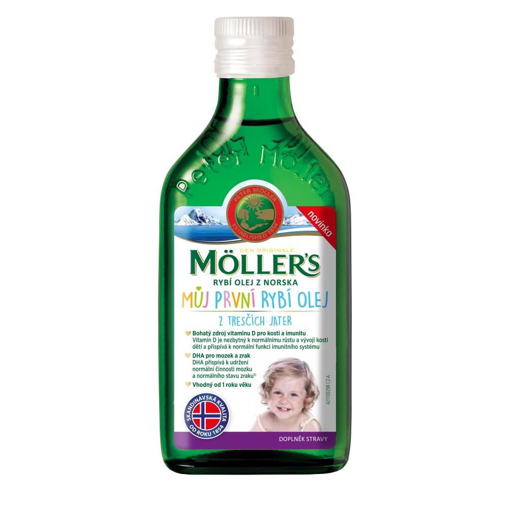 Möller's - Omega 3 Můj první rybí olej, 250 ml
