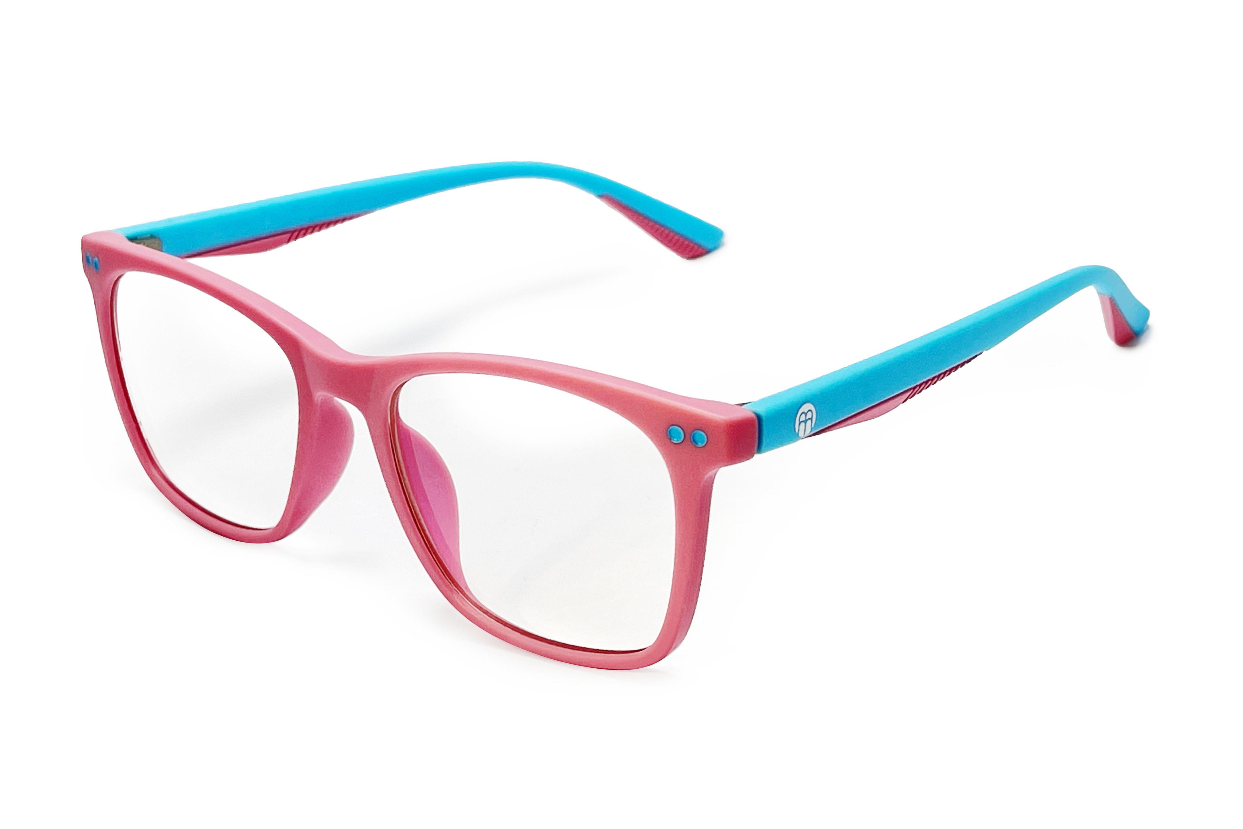 BrainMax Detské okuliare blokujúce 15% modrého svetla (ružovo-zelené)