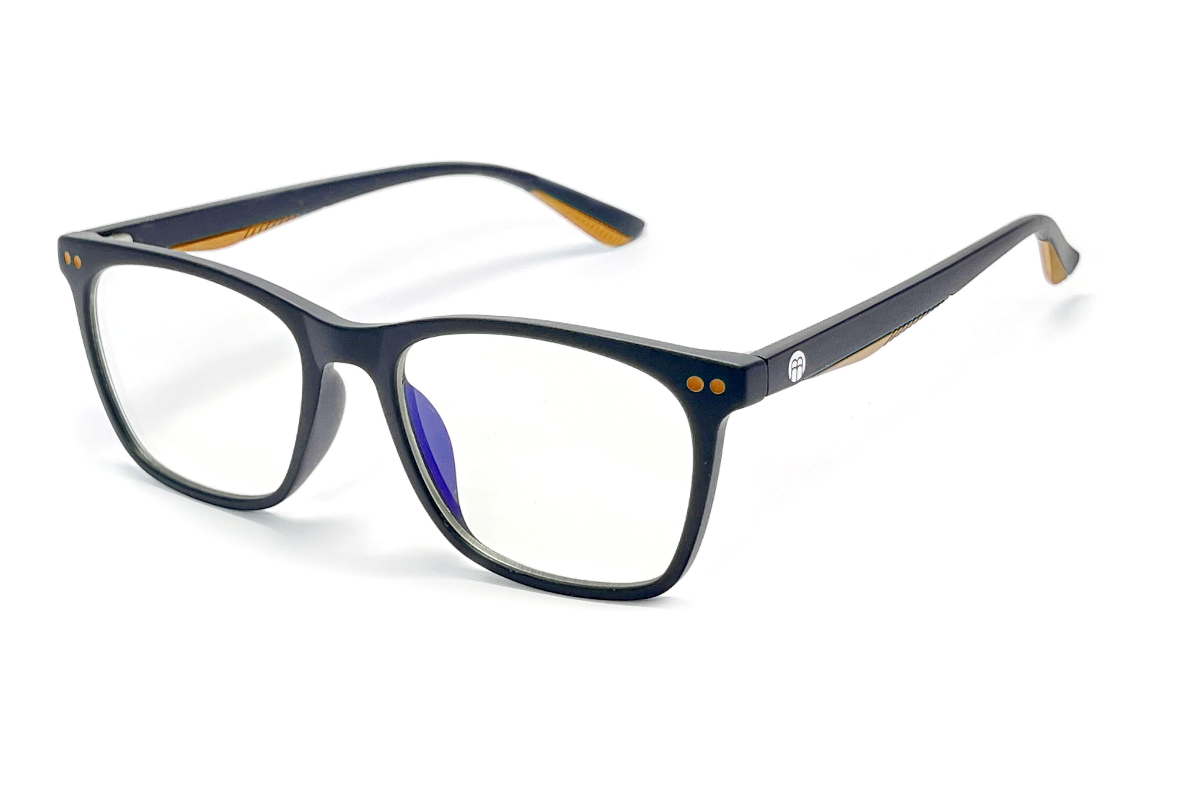 BrainMax Dětské brýle blokující 15% modrého světla (černé+žluté)