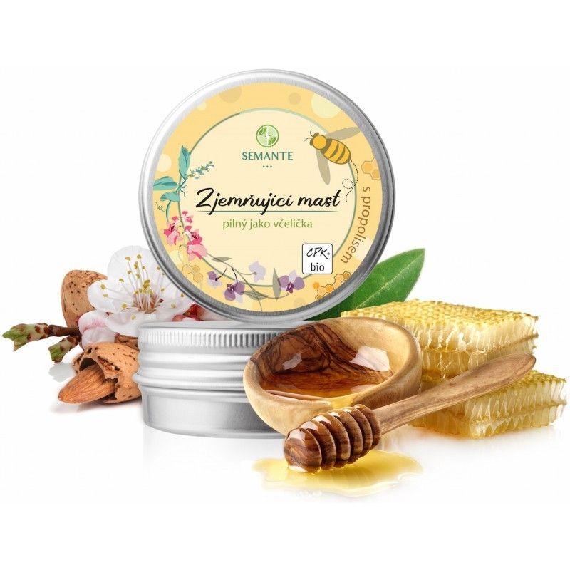 Naturalis - Zjemňující mast s propolisem Pilný jako včelička BIO, 50ml