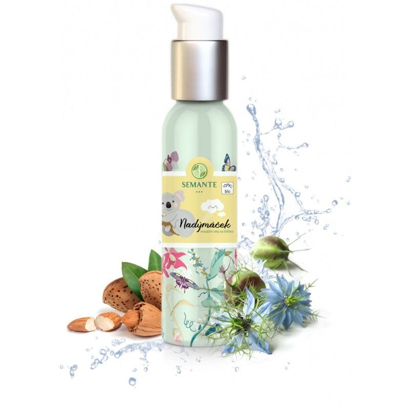 Naturalis - Dětský masážní olej na bříško Nadýmáček BIO, 100 ml