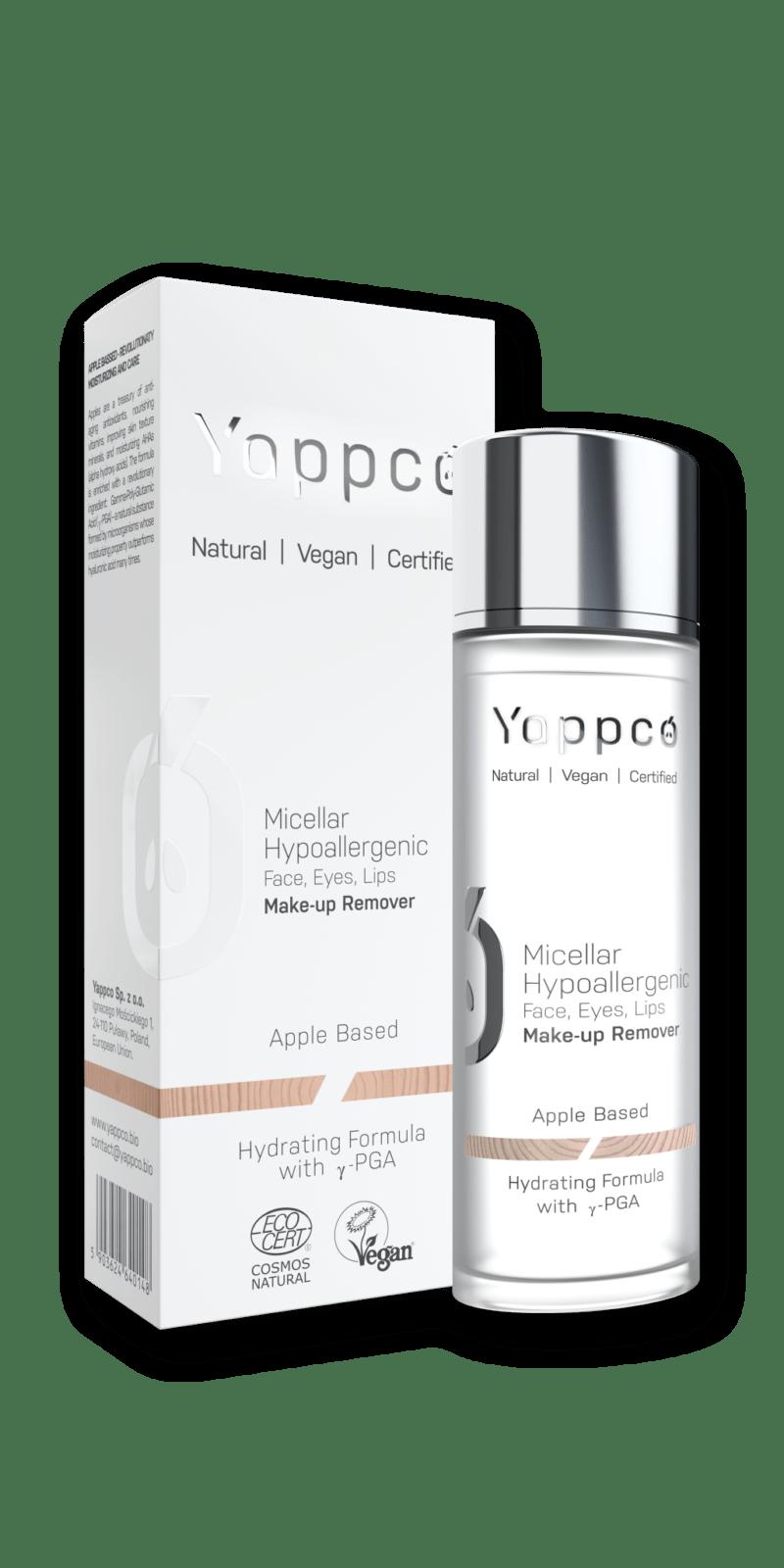 Yappco - Hypoalergenní micelární odličovač pro obličej, oči a rty, 110 ml