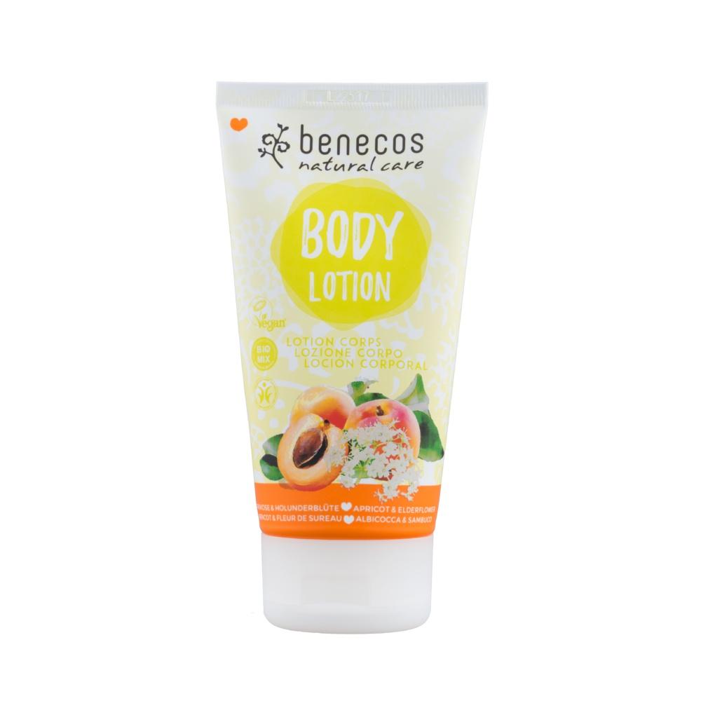Benecos - Tělové mléko meruňka a bezinkový květ, 150 ml