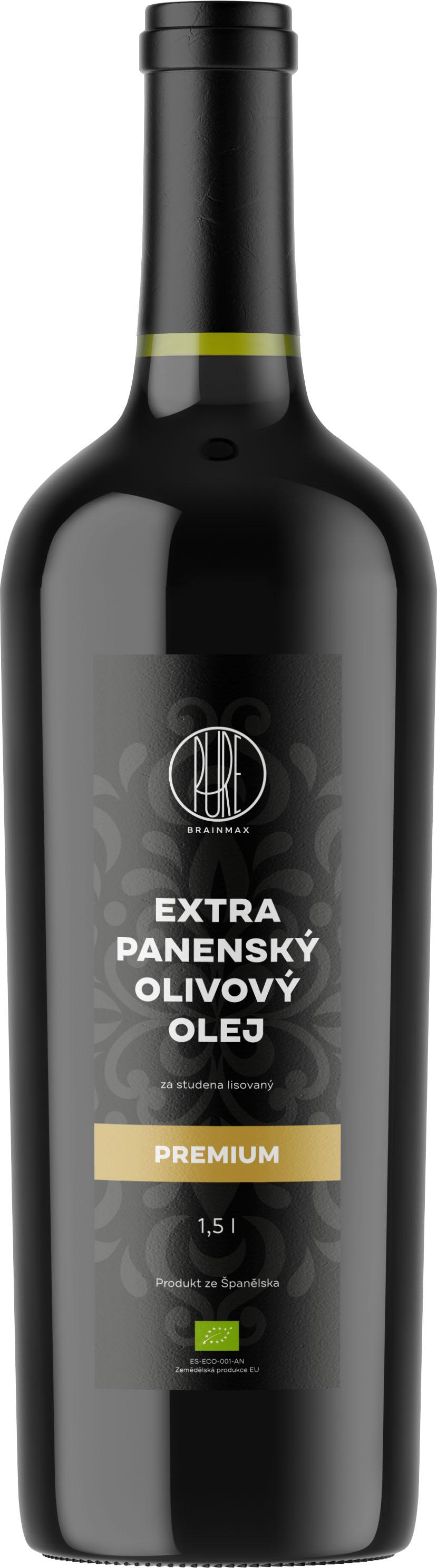 BrainMax Pure Olivový olej PREMIUM, BIO, 1500 ml * ES-ECO-001-AN certifikát