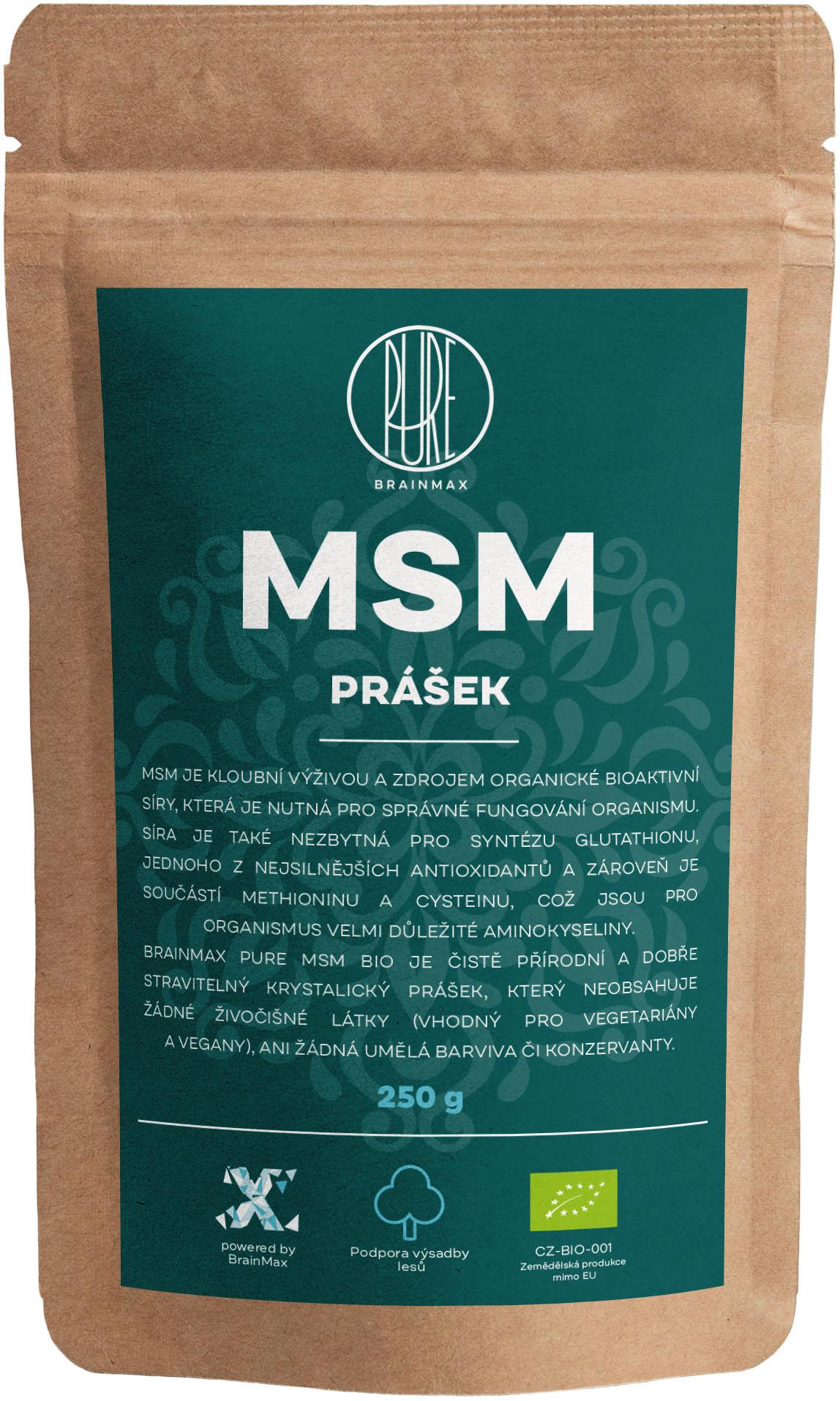 BrainMax Pure MSM BIO prášok, 250 g *CZ-BIO-001 certifikát