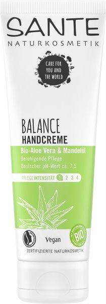 Sante - Krém na ruce Balance, Bio Aloe & Mandlový olej, 75 ml