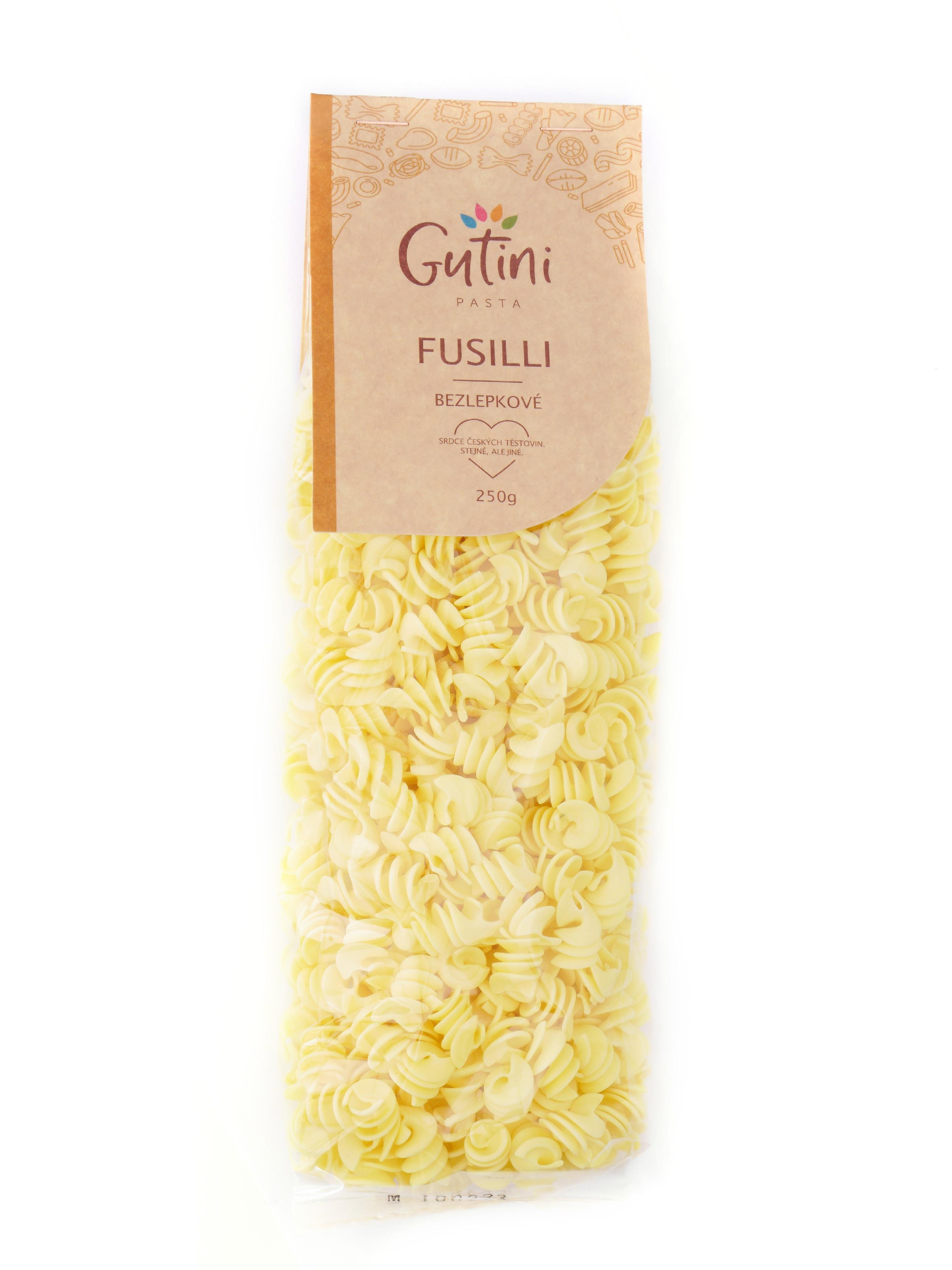 Gutini - Fusilli bezlepkové, bez kukuřičné mouky, 250 g