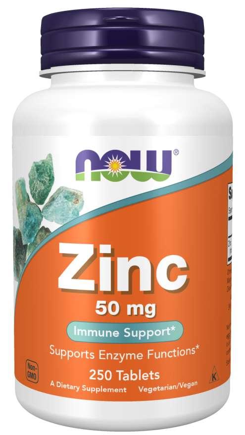 NOW® Foods NOW Zinc (zinek glukonát), 50 mg, 250 tablet