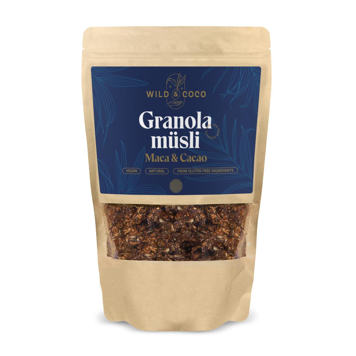Wild&Coco - Granola Maca & Cacao, 250 g