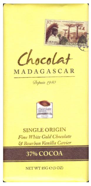 Chocolat Madagascar - Bílá čokoláda s vanilkovým kaviárem, 37% kakao, 85 g