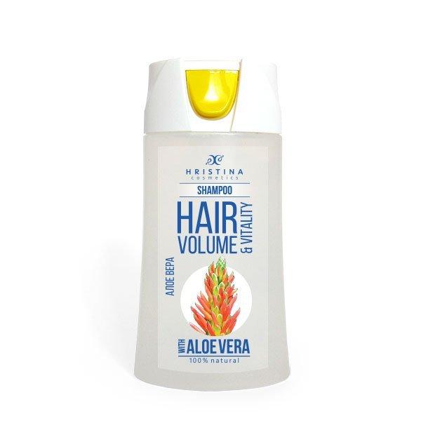 Hristina - Přírodní šampon aloe vera pro bohaté a zdravé vlasy, 200 ml