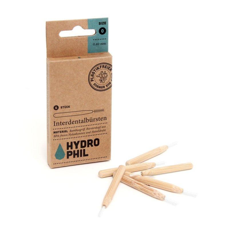 Hydrophil - Bambusový mezizubní kartáček 0,40 mm, 6 ks