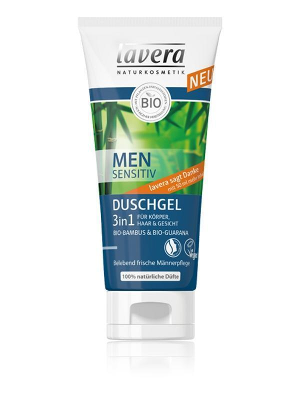 LAVERA, vlasový a telový šampón pre mužov, 3V1 200 ML