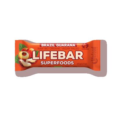 LifeFood - Tyčinka Lifebar brazilská s guaranou BIO, RAW, 47 g CZ-BIO-001 certifikát