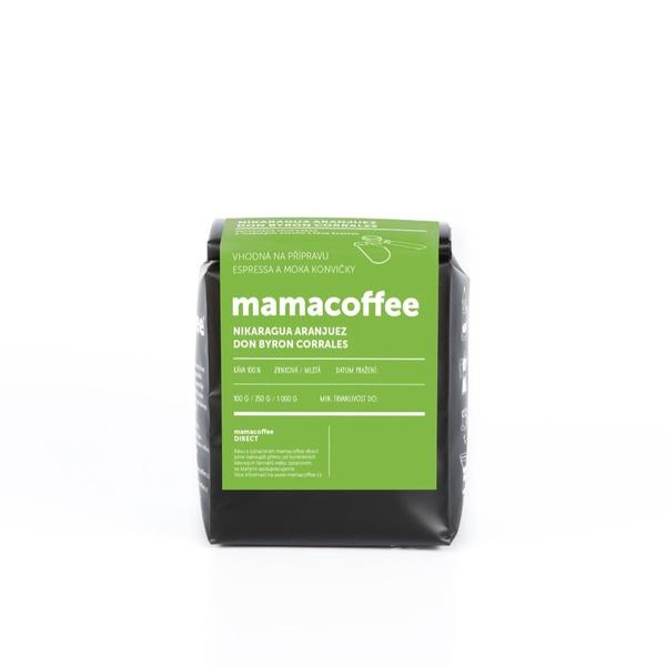 Mamacoffee - Nikaragua Aranjuez Don Byron Corrales, 250g Druh mletie: Mletá