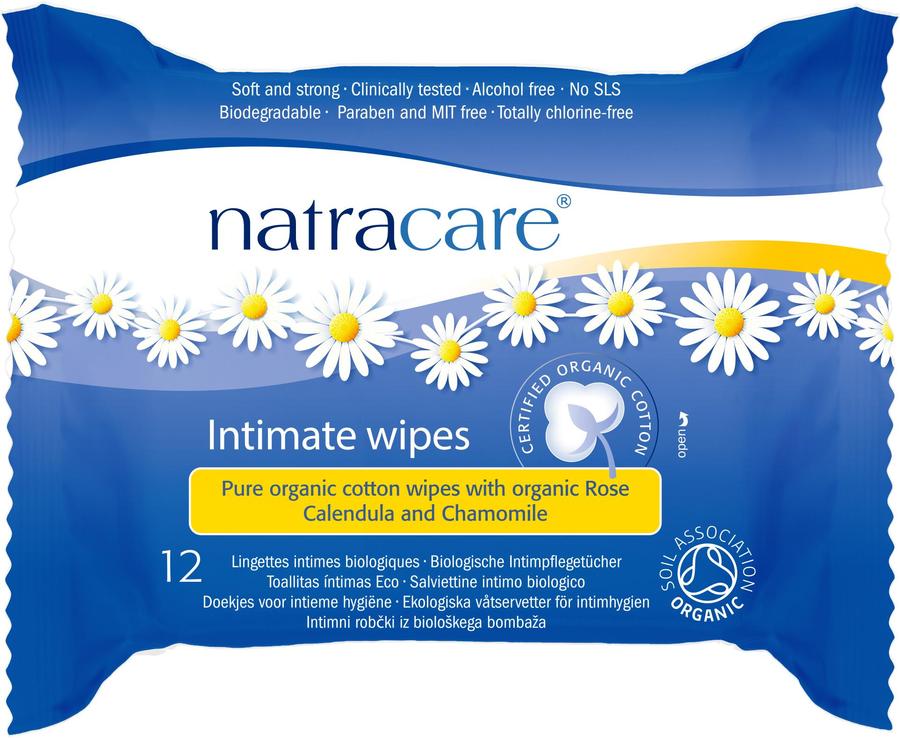 Natracare vlhčené obrúsky na intímnu hygienu 12 KS