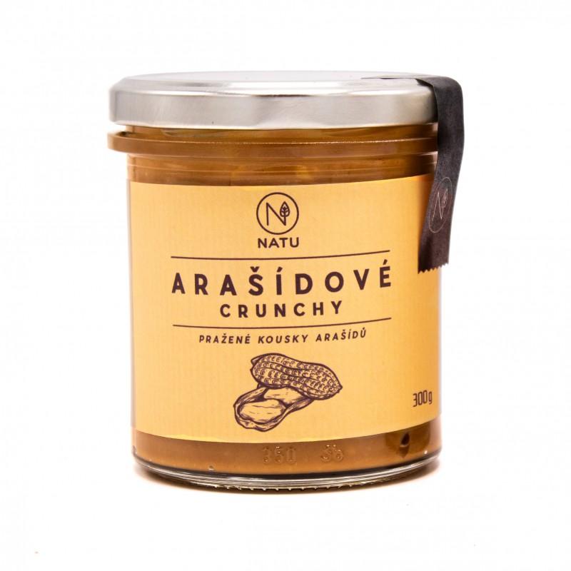NATU - Arašídový krém crunchy, 300g