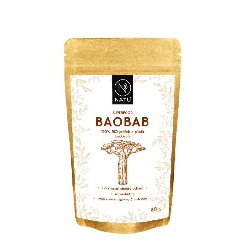 NATU - Baobab BIO Prášok 80g