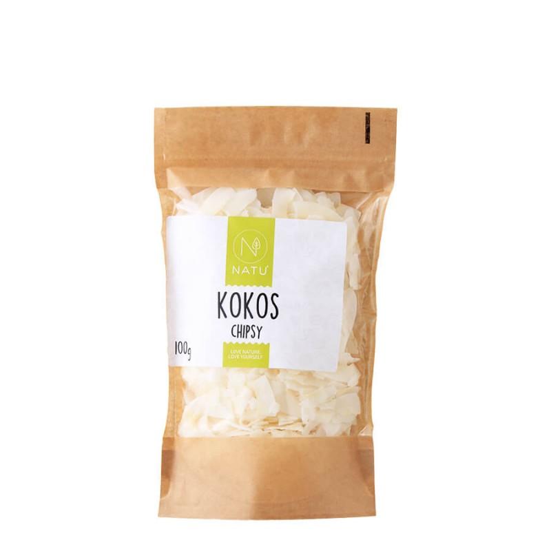NATU - Kokos chipsy, 100g