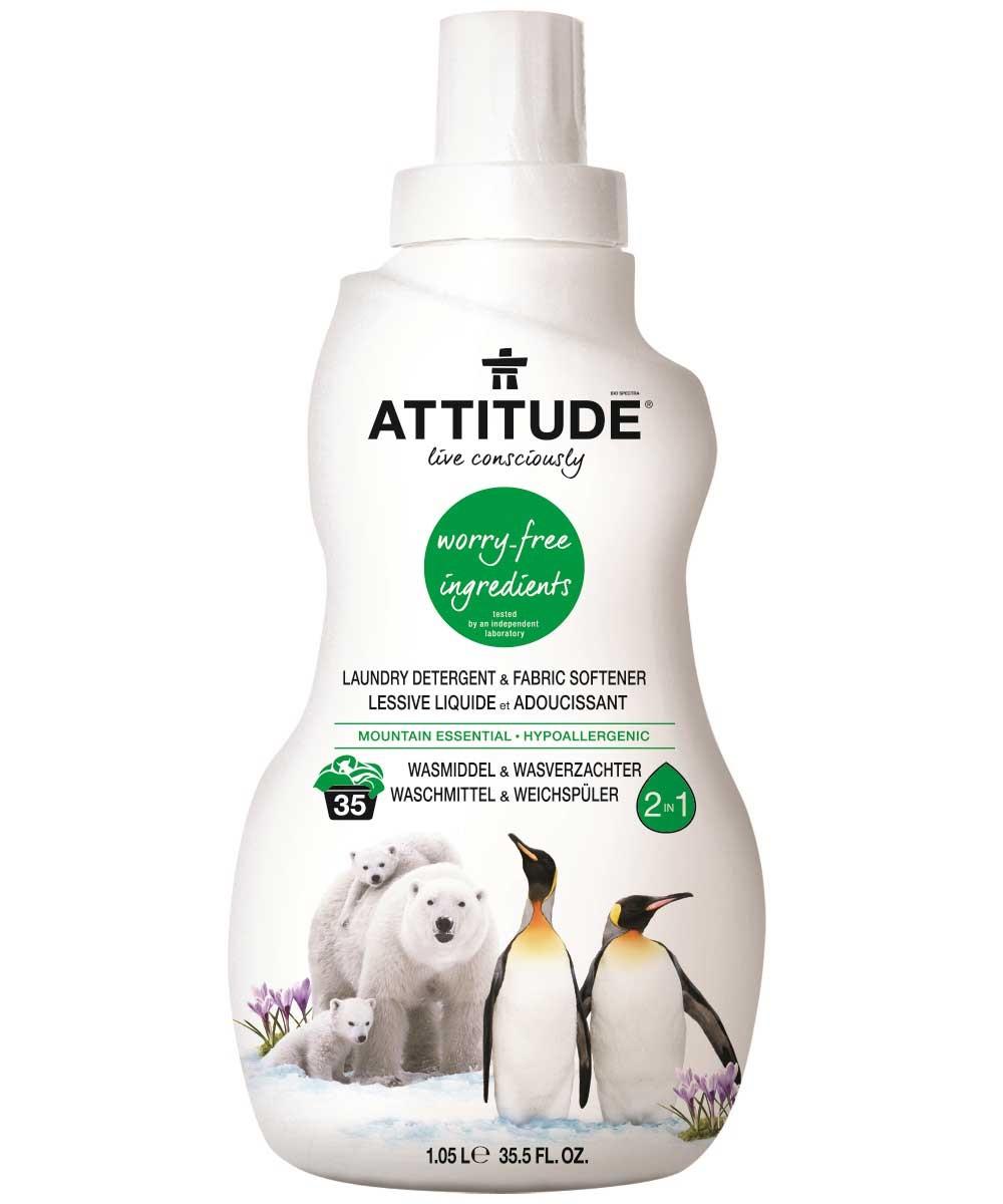Attitude - Prací gél a Aviváž s vôňou Mountain Essentials, 1050ml