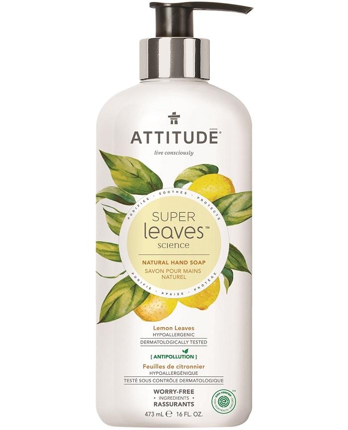 Attitude - Prírodné mydlo na ruky - Super leaves s detoxikačným účinkom - citrusové listy, 473ml