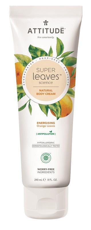 Attitude - Přírodní tělový krém - Super leaves s detoxikačním účinkem - pomerančové listy, 240ml