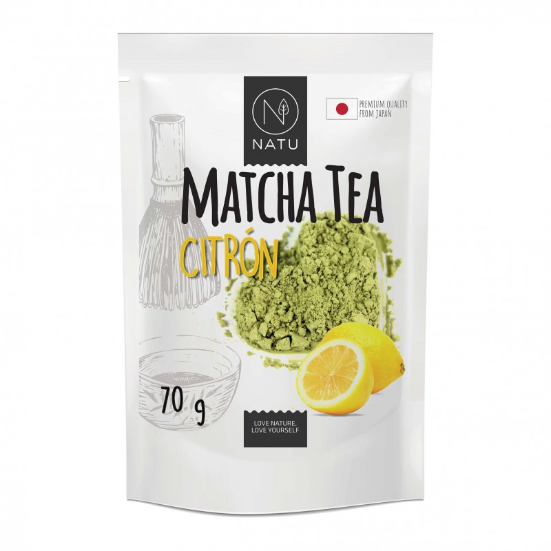 NATU - Matcha Tea BIO Premium Japan Citrón, 70g