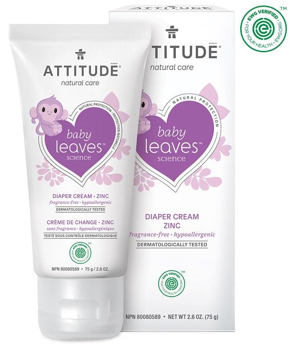 Attitude - Zinkový krém na opruzeniny - Baby leaves bez vůně, 75ml