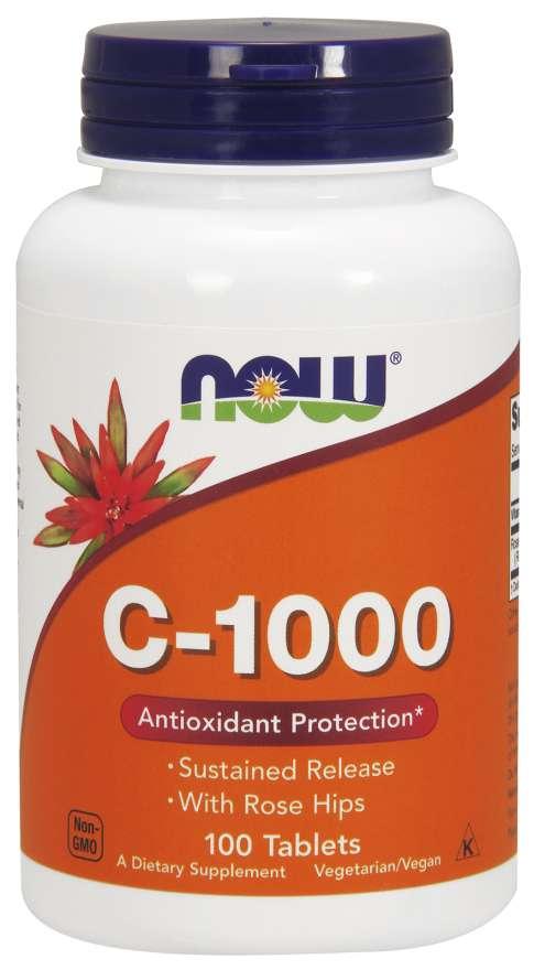NOW® Foods NOW Vitamin C-1000 s postupným uvolňováním, 100 tablet