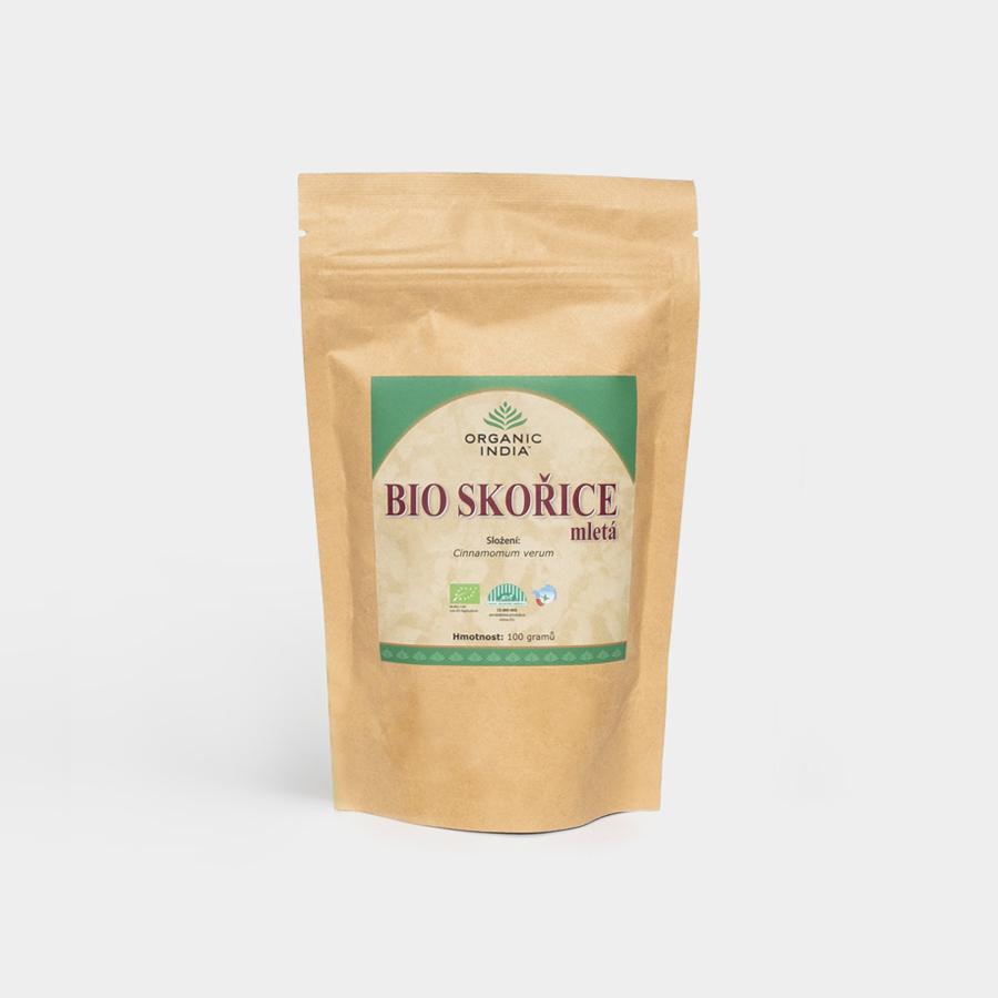 Organic India - Škorica pravá cejlonská mletá - Bio, 100g