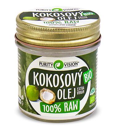 PURITY VISION - RAW Kokosový olej BIO, 120ml