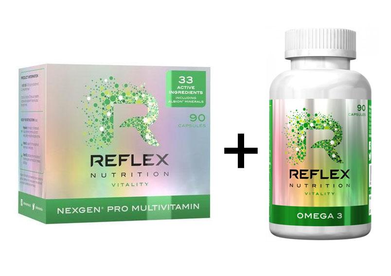 Reflex Nexgen® PRO Multivitamín 90 kapslí + Omega 3 90 kapslí ZDARMA