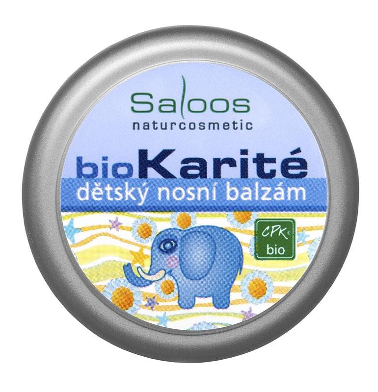 Saloos Bio Karité Detský Nosný Balzam, 19ml
